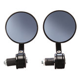 7/8 Inch 22mm Motorcycle Handlebar Rear View Mirrors Blue Glass Black Universal