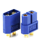 Amass XT60 Male/Female Bullet Connector Plugs Blue For RC Lipo Battery