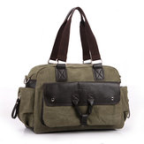 Men's Casual Retro Canvas Bag Large Capacity Shoulder Bags Handbag