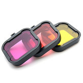 Polarizador 3 colores bajo el agua de buceo UV Lente Filter For Gopro Hero 3+