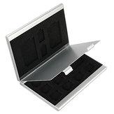 13 en 1 almacenamiento de aluminio portátil Caja Caso para tarjeta TF SD