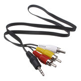 3.5mm Jack Plug - 3 RCA Adaptör Kablosu Ses Video Kablosu