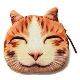 Прекрасная собака кота монет застежка-молния кошелек сумка бумажник карманный мини