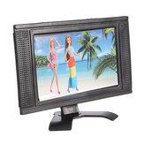 Ayrılabilir Dollhouse için Plastik Oyuncak Düz Ekran Mobilya LCD TV Televi