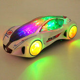 3D Super Car Electric Toy With Flashing Wheel Lights