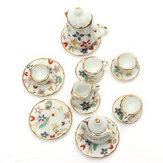1:12 Mini Dollhouse Mobilya Aksesuarları Renkli Çay Seti 15