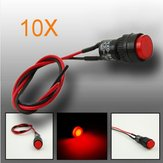 10pcs 10mm Universele LED Indicator Dash Panel Waarschuwingslamp