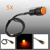 5X10 milímetros universal LED lâmpada de luz de advertência do painel de instrumentos indicador