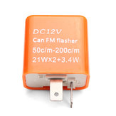 2 Pin LED Turn Signal Flasher Relay Motorcycle Speed Adjustable 12V