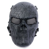 Airsoft Paintball Full Face Skull Masker Perlindungan Luar Taktis Gear