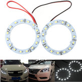 Paire 60mm White Car Angel Eyes Lights HeadLight Halo Ring Lights 15 LED SMD Chip