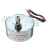 AC 220-240V Turntable Synchronous Motor Clockwise Turning Only 15/18r/min 3.5/3W CW