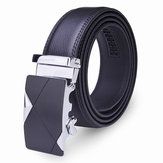 120CM Mens Belt Peritoneal Second Layer Leather  Business Automatic Alloy Buckle Strip