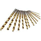 13stuks1.5-6.5mmHSSTitaniumTwist Drills Set Straight Shank Spiral Drill