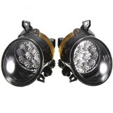 Pair 9 LED White Bright Fog Light Lamp Left & Right For VW GOLF MK5 JETTA