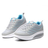 Women Mesh Breathable Sneakers Casual Platforms Shook Shoes