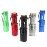 MECO Q5 500LM Multicolor Zoomable Mini LED Flashlight 14500/AA