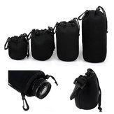 4Pcs Soft Neopreen SML XL lenszakzak voor Canon Nikon Sony Pentax DSLR Camera