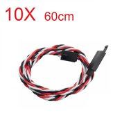 Amass 60 Core 60cm Anti-Off Servo Extension Wire Cable voor Futaba