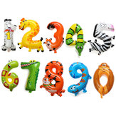 16 Zoll Aluminiumfolie Tier Anzahl Balloons Birthday Party Decoration Balloon