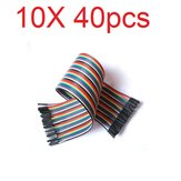10X40pcs 30cm Female to Female Color Breadboard Cable Jump Wire Jumper For RC Models