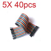 5X40 szt. 30 cm kabel żeński do żeńskiego Breadboard Cable Jump Wire Jumper Do modeli RC