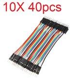10X40pcs 30cm color macho a macho Breadboard Cable Jump Alambre Jumper para modelos RC