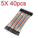 5X40pcs 30cm Macho para Macho Cor Breadboard Cable Jump Fio Jumper Para modelos de RC