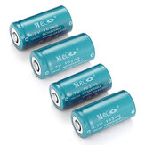 Bateria de Li-Ion 4pcs meco 3.7 v 1200mah reachargeable cr123a/16340