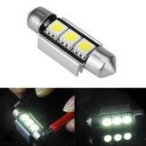 39mm 5050 erreur de canbus 3smd voiture double forme libre blanche LED ampoule