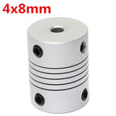 4mm x 8mm Aluminium Flexibele As Koppeling OD19mm x L25mm CNC Stepper Motor Coupler Connector