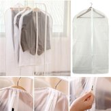 PEVA Foldable Translucent Clear Washable Coat Suits Clothes Garment Protective Cover Storage Bag
