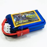 Giant Power LIPO 7.4V 2S 450MAH 25C Low Resistance Battery Good Consistency Ultralight