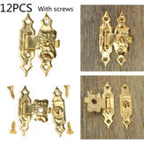 12st antieke decoratieve sieraden cadeau houten kist hasp klink slot met schroef