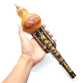 Natural Bamboo Gourd Cucurbit Flute C Tone Chinese Minority Instrument