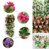 2шт искусственного пластиковые цветок розы виноградные лозы гирлянда Дом и сад украшения