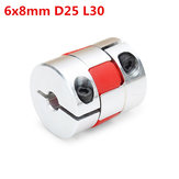 6mm x 8mm Aluminum Flexible Spider Shaft Coupling CNC Stepper Motor Coupler Connector OD25mm x L30mm