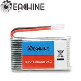 Everyine 3.7V 750mah 25C Lipo البطارية لـ Eachine QX95 QX90 QX80 E30 E30W Syma X5 X5C X5SC X5SW CX30W