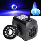 Pompa ad acqua sommergibile GPH 800L / H 210 per fontana per acquario con acquario con 12 luci LED