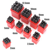 9pcs Stamps Numbers Set Punch Steel Metal Die Tool