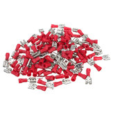 100pcs 22-16AWG RED Weiblich Insulated Schnelltrennungen Draht Crimpverbinder