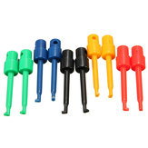 DANIU 10 Pcs Round Large Size Single Hook Clip Test Probe Wire Hook for Electronic Testing