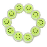 10pcs burbuja nivel de burbuja circular establece para el uso normal de medición profesional