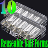 10st Silver Nail Art UV Gel Acryl Extension Guide Forms