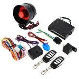 Alarme de carro sistema de segurança 2 controle remoto keyless entrada sirene