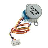 Gear Stepper Motor DC 5V 4 Phase 5-Wire Reduction Step Geekcreit para Arduino - produtos que funcionam com placas oficiais Arduino