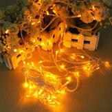 100 LED 10m corda amarela luz decoração para o natal 110v 220v