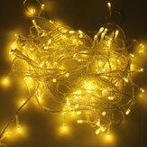 500 LED 50m aquecem a luz branca da decoração da corda para o festival 220V