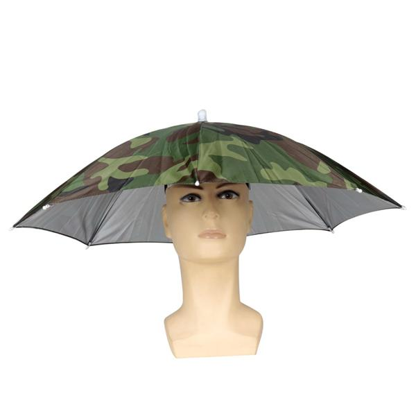 9a735123584f ZANLURE Foldable Sun Umbrella Fishing Hiking Golf Camping Headwear Cap Head  Hats Outdoor
