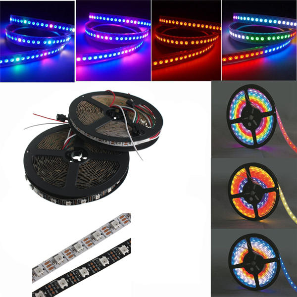 5M WS2812B 5050 RGB Non-Waterproof 300 LED Strip Light Dream Color Changing Individual Addressable DC 5V